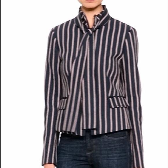 4c35e76870e775 Banana Republic Striped Bow Neck Jacket Blazer